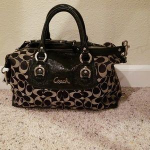 Women's coach leather purse